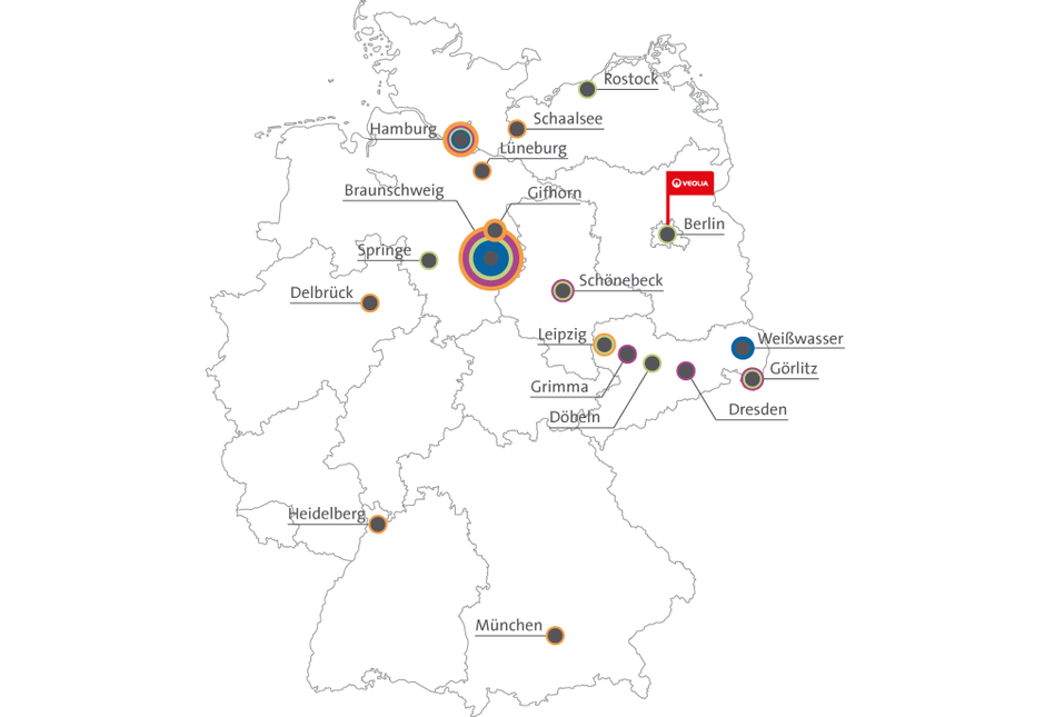 braunschweig karte deutschland Landkarte des Engagements   Veolia Deutschland